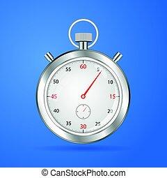 Realistic stopwatch timer  stop watch  vector clock
