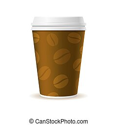 Realistic Style Paper Coffee Cup. Vector