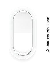 Realistic switch button in white color.