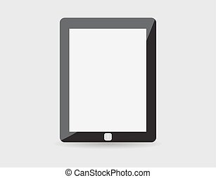 Realistic tablet pc computer with blank screen isolated on white background. Vector eps10
