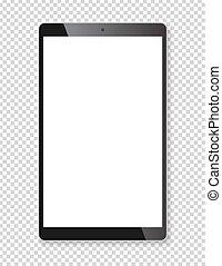 Realistic tablet portable computer mockup - Realistic tablet...