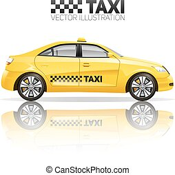 Realistic Taxi Illustration