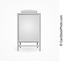 Realistic Template Blank White Menu Board. Vector