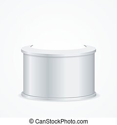 Realistic Template Blank White Reception. Vector