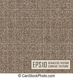Realistic texture of burlap, canvas. Beige, brown.