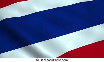 Realistic Thailand flag