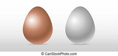 realistic three-dimensional egg