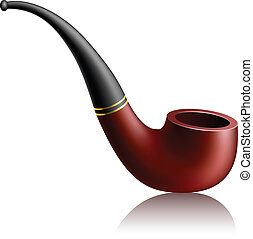 Realistic tobacco pipe - Realistic brown tobacco pipe