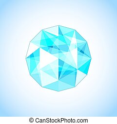 Realistic topaz shaped. Gem. Vector illustration.