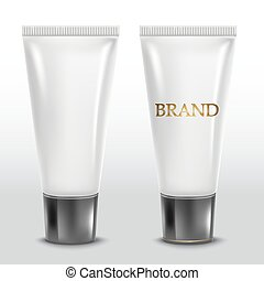 Realistic tube. For cosmetics