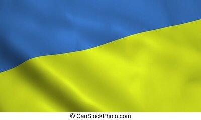 Realistic Ukraine flag