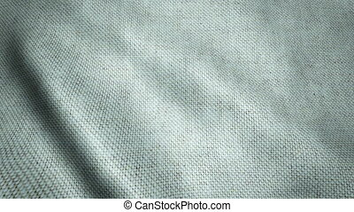 Realistic Ultra-HD cotton cloth waving in the wind. Seamless...