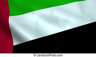 Realistic United Arab Emirates flag waving in the wind....