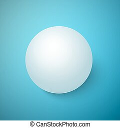 Realistic Vector 3D Ball Isolated on a Blue Background