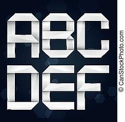 Realistic Vector Alphabet