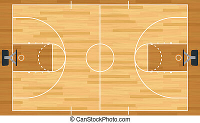 Realistic Vector Basketball Court - A realistic vector...