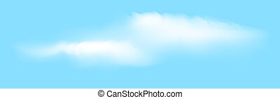 realistic vector clouds with blue background