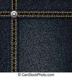 Realistic vector denim background.