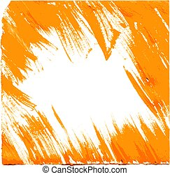 Realistic vector frame of thick orange paint smears
