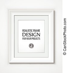 Realistic Vector Frame template. Vector illustration