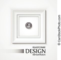 Realistic Vector Frame. Vector illustration