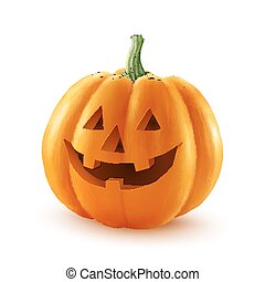 realistic pumpkin drawing. realistic vector halloween pumpkin. happy face isolated on white background pumpkin drawing