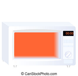 Realistic vector illustration by microwave