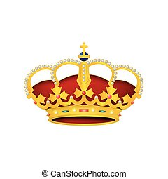 Realistic vector illustration of a crown background