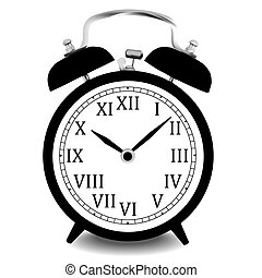 Realistic vector illustration of wall clock.