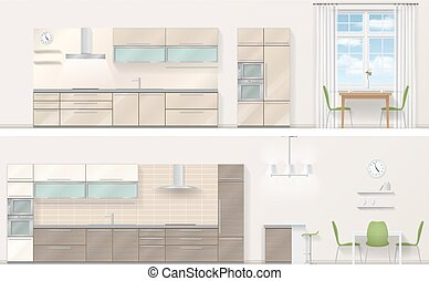 Realistic vector kitchen