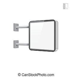 Realistic vector light box template