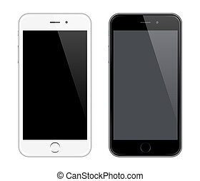 Realistic Vector Mobile Phone Mockup like Iphone Design...