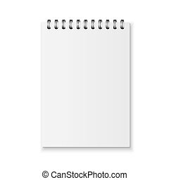 Realistic vector notebook - Blank realistic spiral notebook ...
