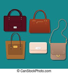 Realistic vector purses