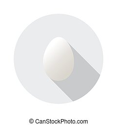 Realistic vector shape of egg. Easter egg shape and isolated on round background. Label design. Easter template