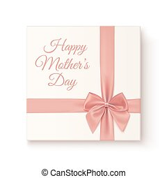 Realistic, vintage gift icon. Greeting card for Mothers Day