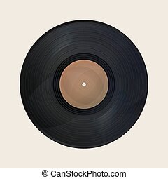 Realistic vintage vinyl record design