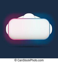 Realistic Virtual reality glasses, VR headset illustration. ...