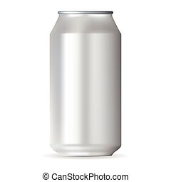 Realistic white aluminum can