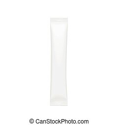 Realistic White Blank template Packaging Stick
