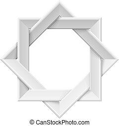 Realistic white frame