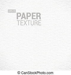 Realistic White Paper Background Texture. Vector...