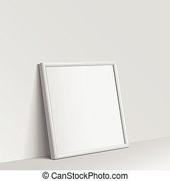 Realistic White square shape frame