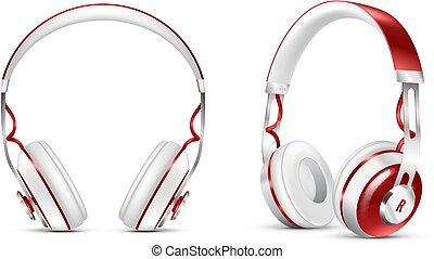 Realistic Wireless Headphones Set