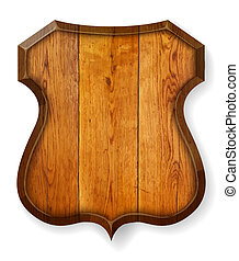Realistic wooden board. Vector illustration.