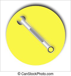 Wrench icon Vector Illustration on the white background.