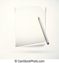 realistický, úřad, papírnictví, pojem