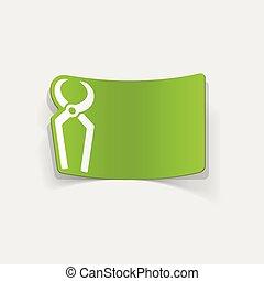 realistický, element:, design, skřipec