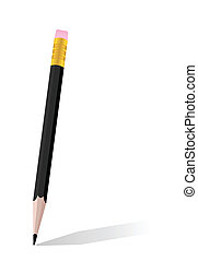 realistický, ilustrace, o, svobodný, čerň, kreslit