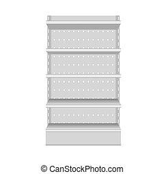 realistický, vektor, shelf., supermarket, ilustrace